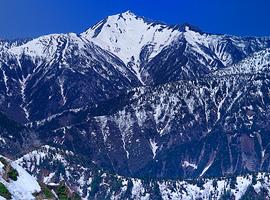 12月の山 立山連峰(富山県)